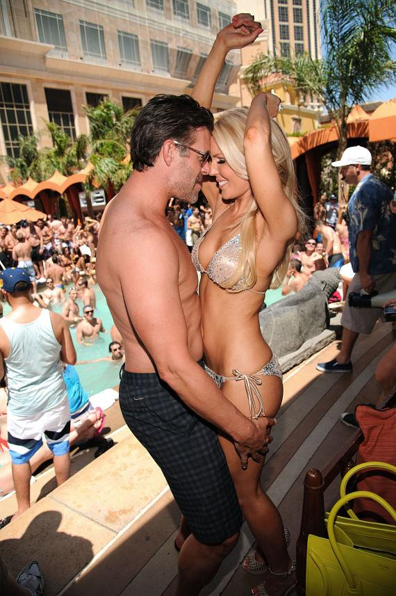 Gretchen Christine Rossi and Slade Smiley at TAO Beach