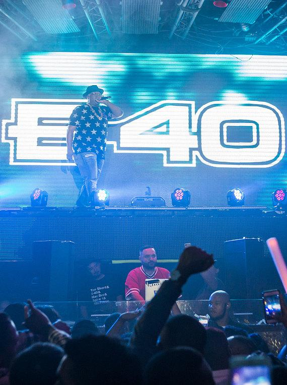E-40 performs at TAO Nightclub in The Venetian
