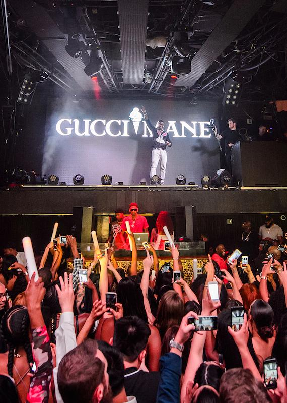 Gucci Mane performs at TAO in Las Vegas