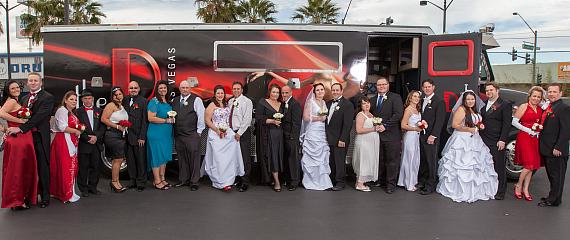 12 Newlywed Couples Celebrate Mass 12-12-12 Wedding at the D Las Vegas