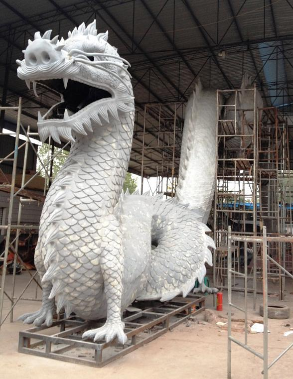 128-foot hand-crafted, fire-breathing dragon - work in progress