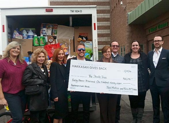 The Shade Tree Shelter Receives $63,000 Donation from Hakkasan Group