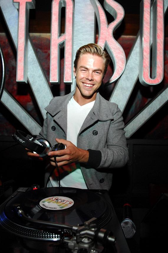 Derek Hough in DJ booth at Tabú at MGM Grand Las Vegas