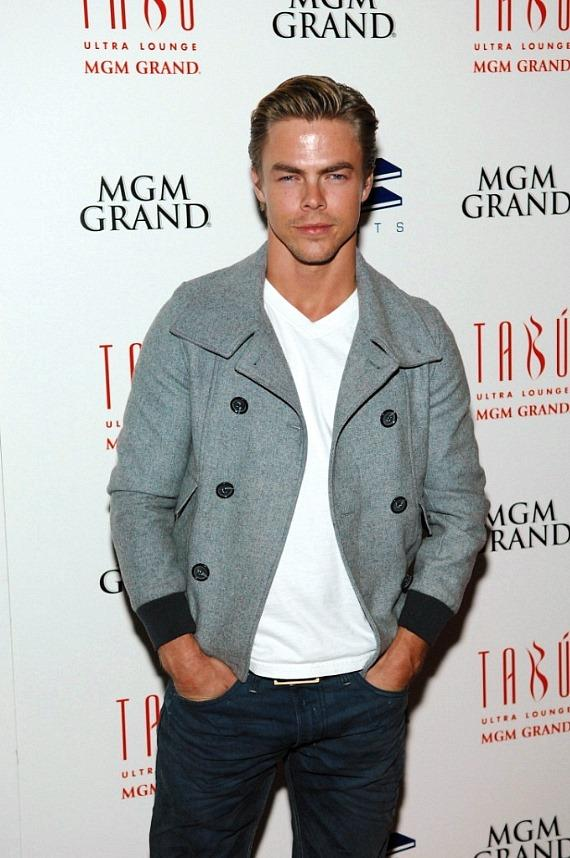 Derek Hough arrives at Tabu
