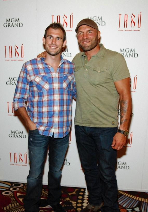 Ryan Couture on carpet with father Randy Couture