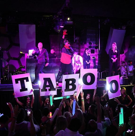 Birthday boy, Taboo, takes center stage while spinning at Moon Nightclub inside Palms Casino Resort.
