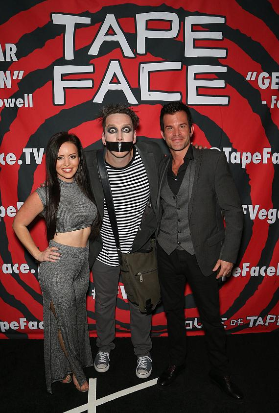 Magicians Mistie & Kyle Knight with Tape Face