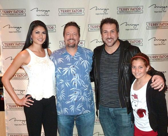 Taylor Makakoa, Terry Fator, Joey Fatone and daughter Briahna