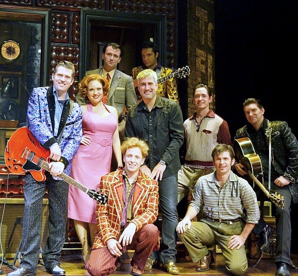 Taylor Hicks with Million Dollar Quartet Cast