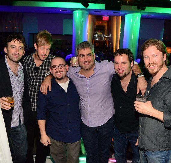 Taylor Hicks with band members and friends at PURE Nightclub in Las Vegas