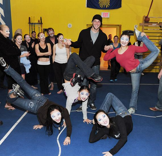 "Tim Tebow with Contortionists at ""O"" by Cirque du Soleil"