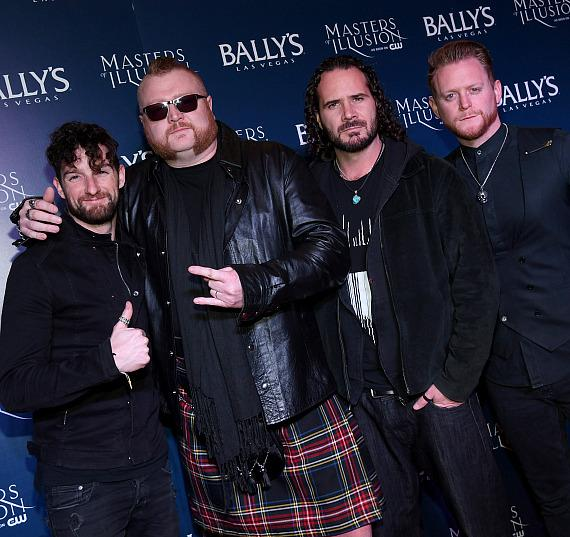 Tenors of Rock on the red carpet at opening night of Masters of Illusion at Bally's Las Vegas
