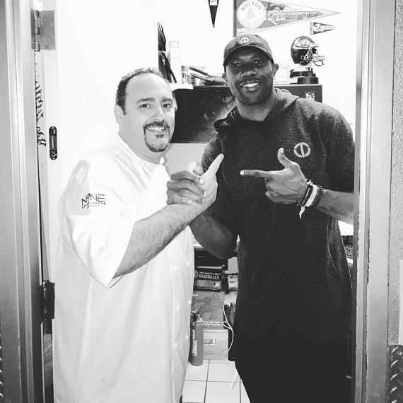 Terrell Owens with Chef Barry