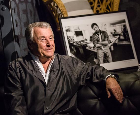 Terry O'Neill at the Iconic Images Gallery after-party inside Foxtail