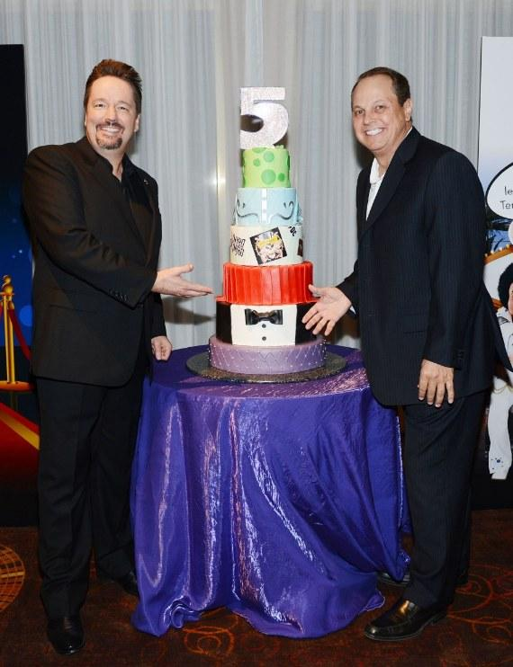 Terry Fator and President and COO of The Mirage Hotel & Casino Trevor Scherrer
