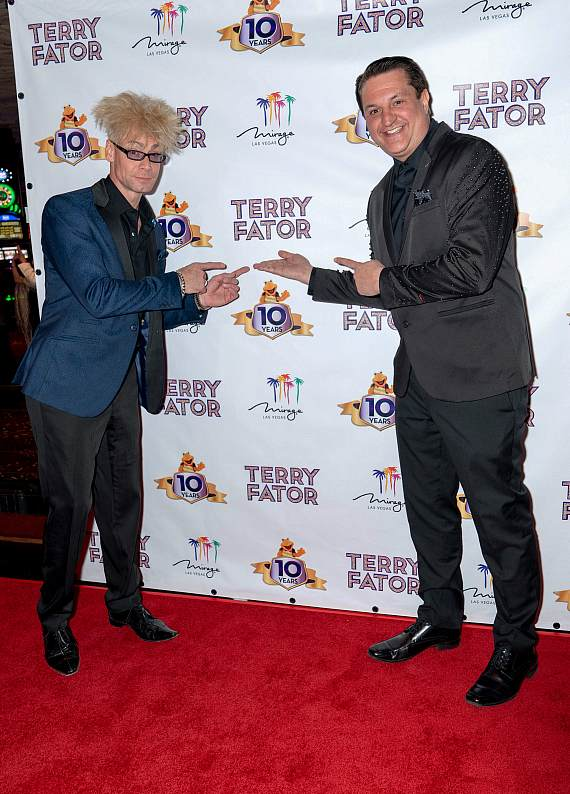 """Murray SawChuck and Douglas """"Lefty"""" Leferovich at Terry Fator's 10th Anniversary Celebration"""