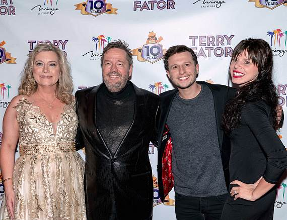 Terry & Angie Fator, Mat Franco, Tianna Scartabello at Terry Fator's 10th Anniversary Celebration