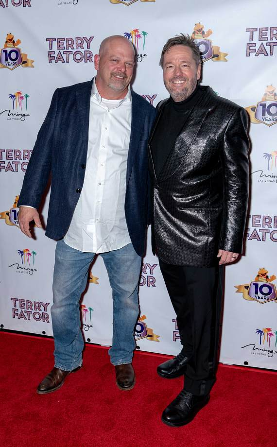 Pawn Stars' Rick Harrison with Terry_Fator at The Mirage