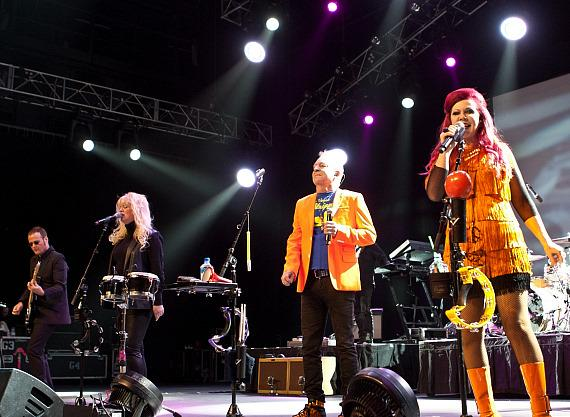 The B-52s perform inside The Joint at Hard Rock Hotel & Casino