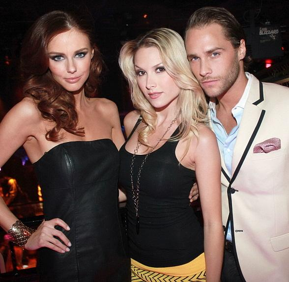 Alyssa Campanella,  Tara Conner and Josh Strickland at The Bank