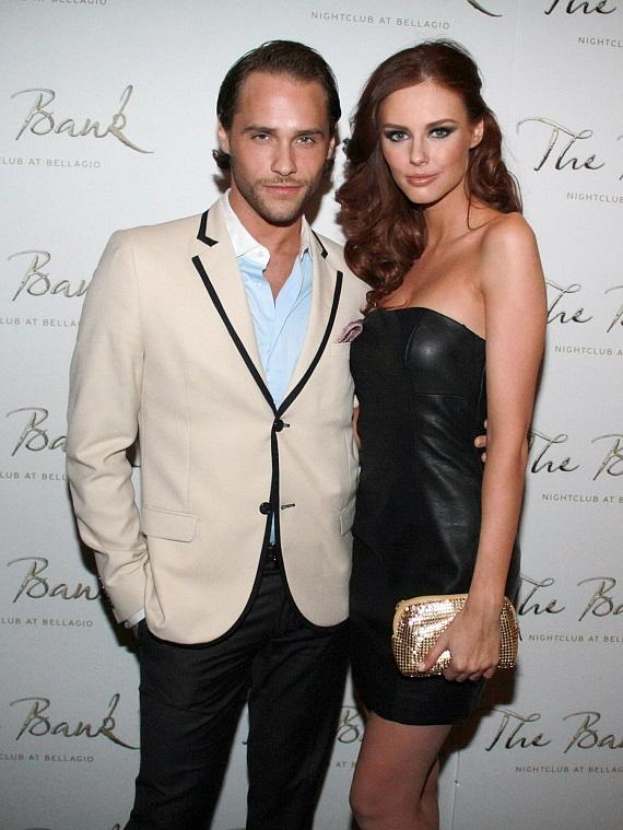 Josh Strickland and Former Miss USA Alyssa Campanella at The Bank