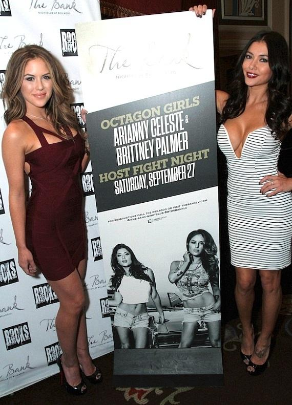 Brittney Palmer and Arianny Celeste at The Bank Nightclub in Las Vegas