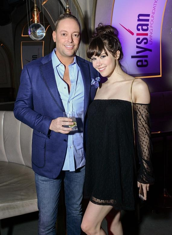 The Calida Group Co-Founder and Managing Director Eric Cohen with Pin Up Star Claire Sinclair