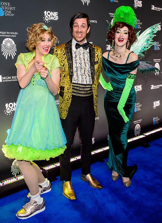 The Gazillionaire, Wanda Widdles and the Green Fairy from ABSINTHE at the sixth edition of One Night for One Drop imagined by Cirque du Soleil