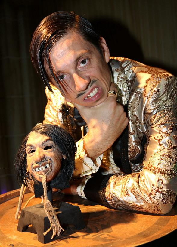 The Gazillionaire Unveils Shrunken Head at The Golden Tiki in Las Vegas
