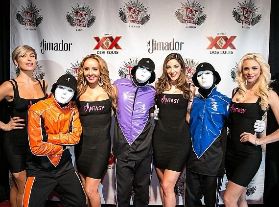 The Ladies of FANTASY and the Jabbawockeez on the Red Carpet at Tacos & Tequila