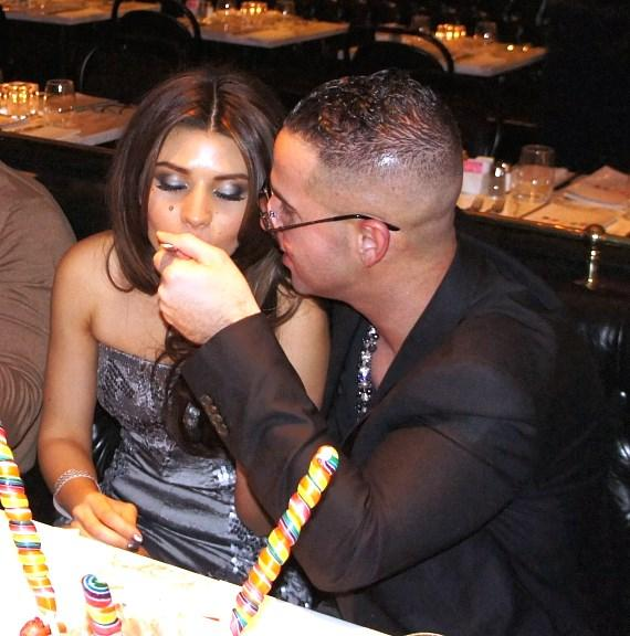 """Mike """"The Situation"""" Sorrentino dines at Sugar Factory American Brasserie at Paris Las Vegas"""