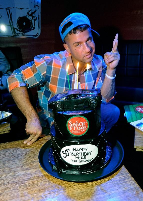 The Situation Poses With Birthday Cake