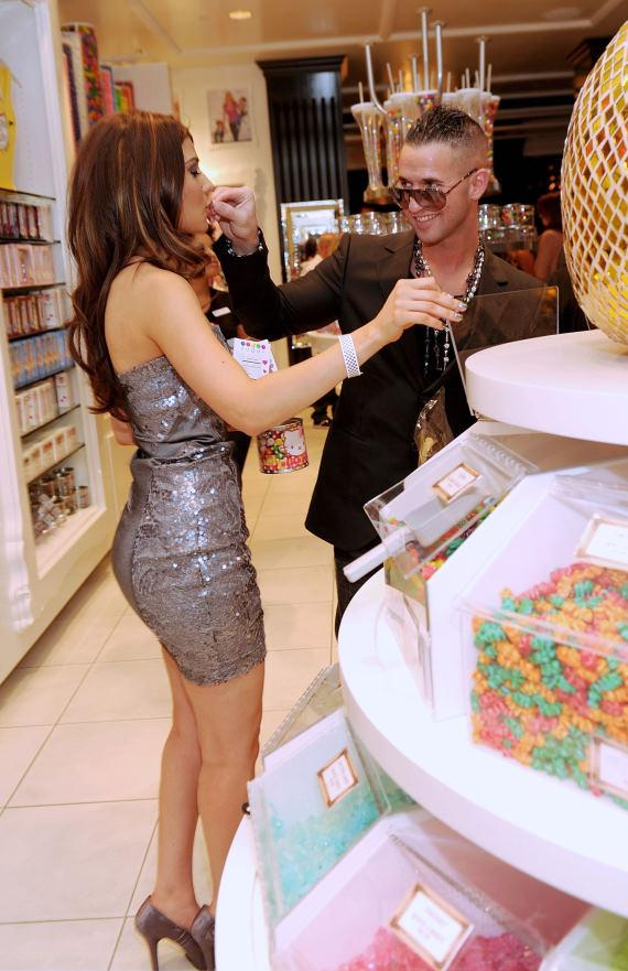 """Mike """"The Situation"""" Sorrentino shopping with Marcy Depena at Sugar Factory in Las Vegas"""