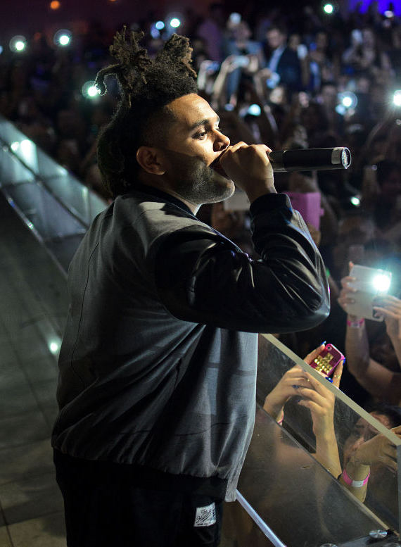 The Weeknd performs at PURE Nightclub in Las Vegas