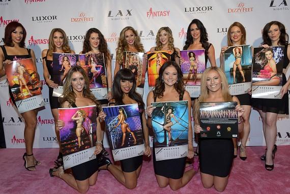 "The cast of FANTASY debuting the 2016 ""FANTASY After Dark"" calendar"