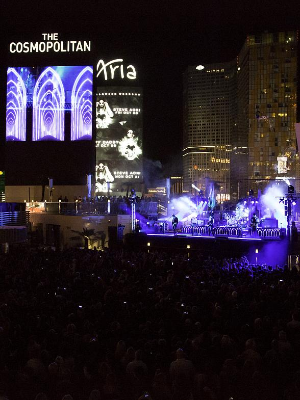The 1975 Rocks Out at Boulevard Pool at The Cosmopolitan of Las Vegas