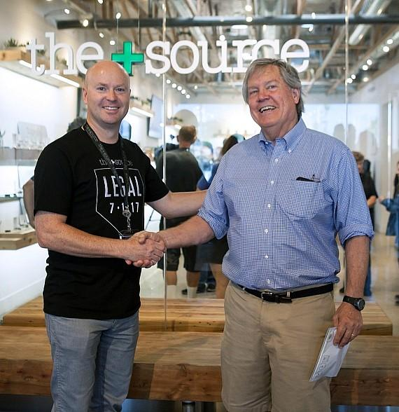 The+Source CEO Andrew Jolley Shaking Hands with State Senator Tick Segerblom