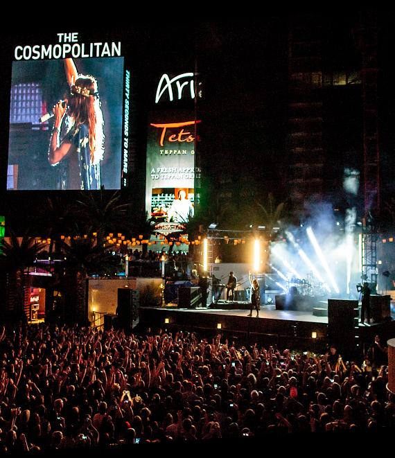 Thirty Seconds to Mars perform at The Boulevard Pool at The Cosmopolitan of Las Vegas