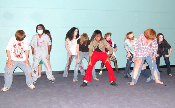 Teens Dance the 'Thriller' Dance at last year's event