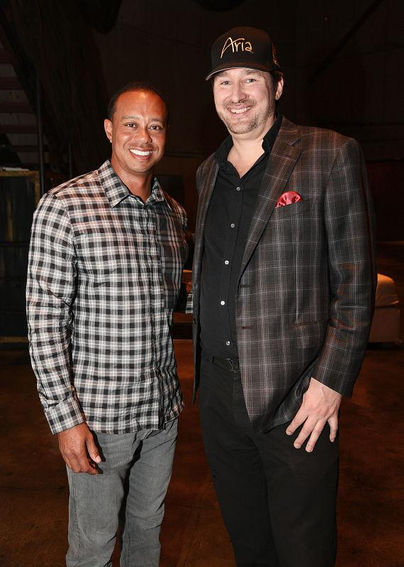 Tiger Woods and Phil Hellmuth at Tiger's Poker Night
