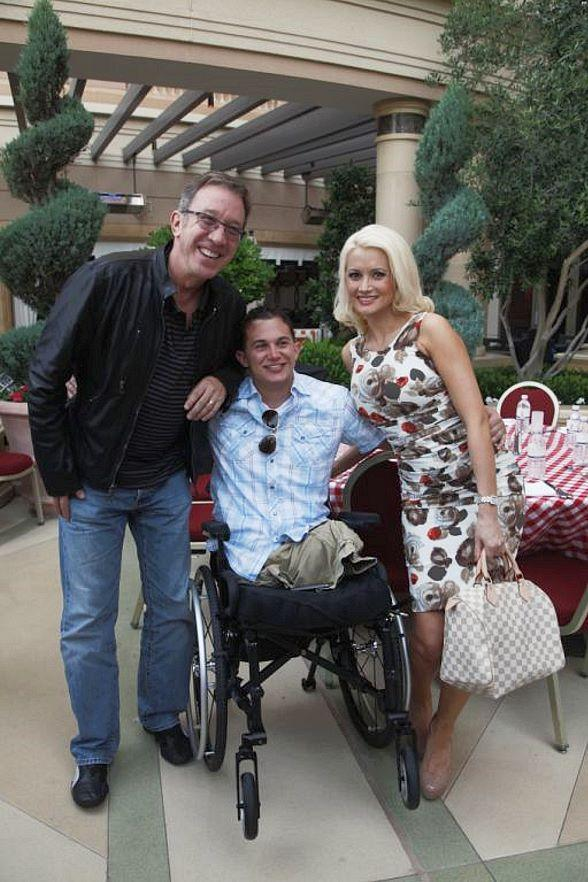 Tim Allen, Holly Madision and soldier at The Palazzo in Las Vegas