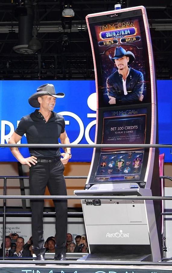 Tim McGraw Video Slot Game at Global Gaming Expo