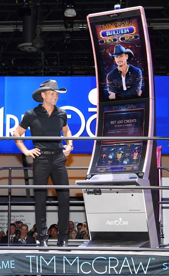Tim McGraw and Aristocrat Reveal New Tim McGraw Video Slot Game at Global Gaming Expo