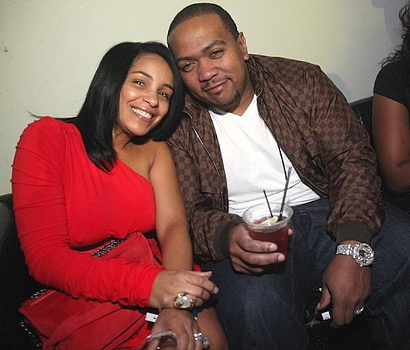 Timbaland with lady friend at Rain Nightclub