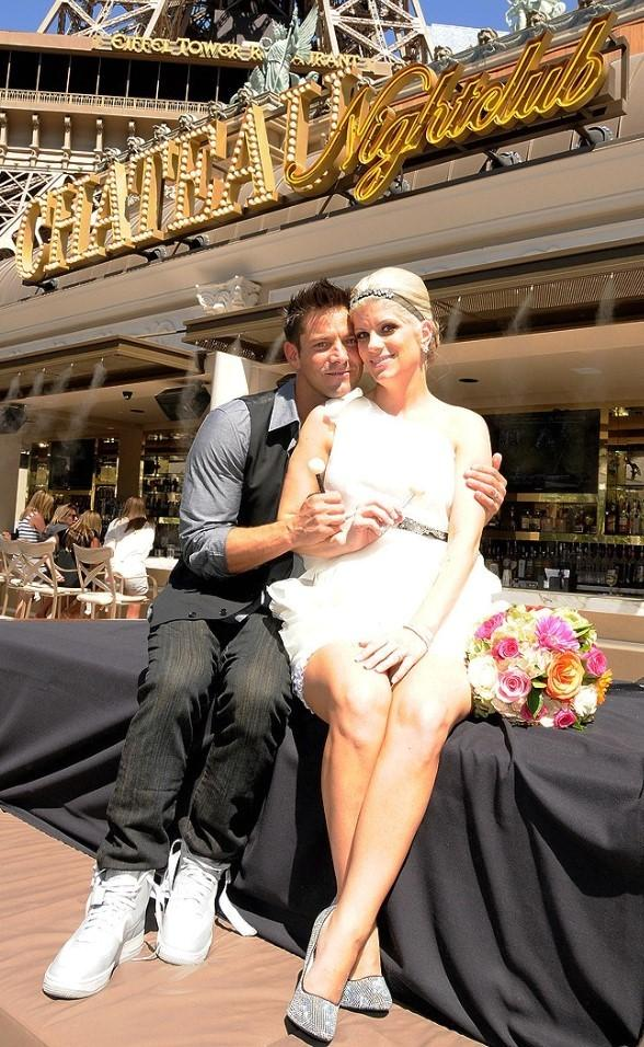 Jeff Timmons with New Wife Amanda Timmons at Wedding Reception at Chateau Nightclub in Las Vegas