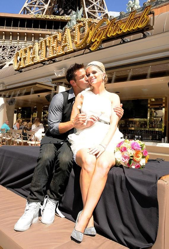 Jeff Timmons with new wife Amanda Timmons at Wedding Reception at Chateau Nightclub