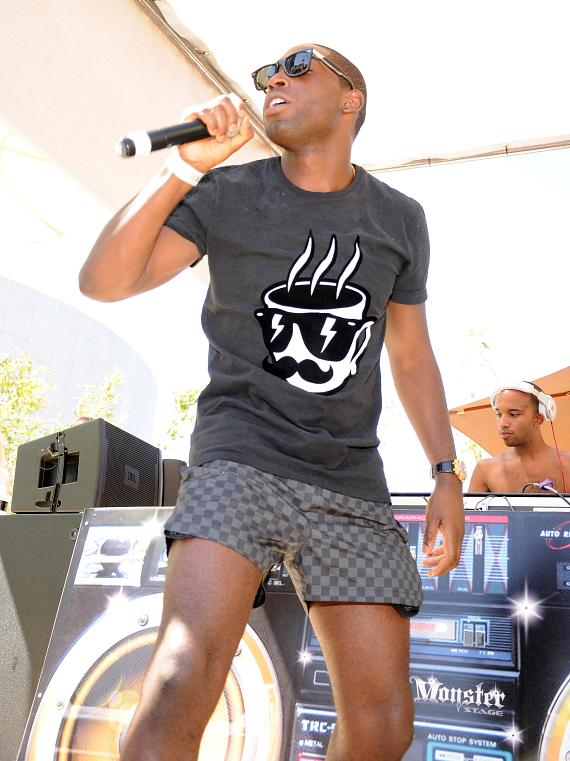Tinie Tempah performs at Palms Pool & Bungalows