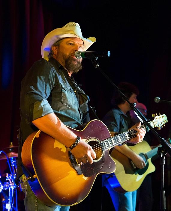 Toby Keith pop-up performance at the 10 year anniversary of Toby Keith's I Love This Bar & Grill at Harrah's Las Vegas on Friday, Sept. 30.