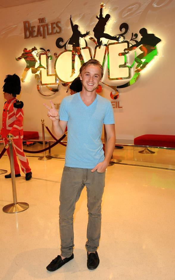 Harry Potter's Tom Felton Attends Performance of The Beatles LOVE by Cirque du Soleil