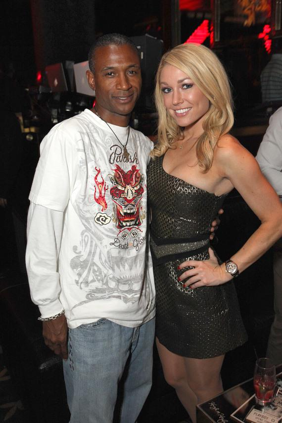 Tommy Davidson and Kelly Carrington at Playboy Club